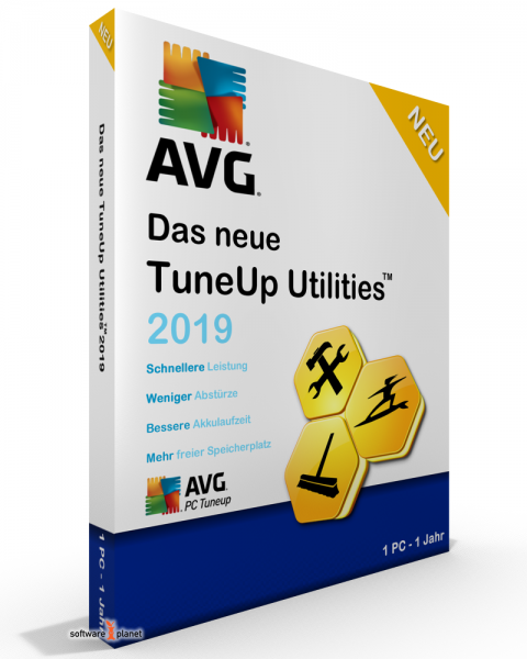 AVG PC TuneUp 2019 1 PC / 1 Jahr Vollversion