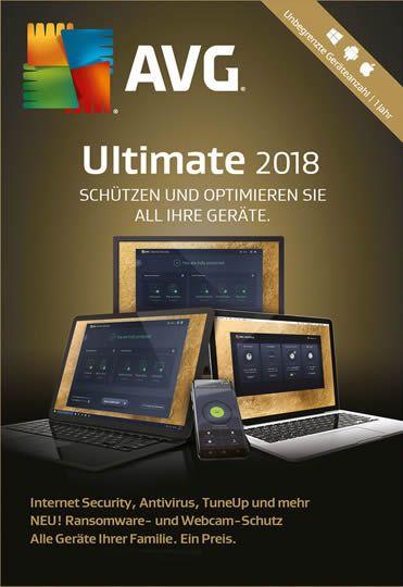 AVG Ultimate 2018 / 1 Jahr 1-5 PC Geräte