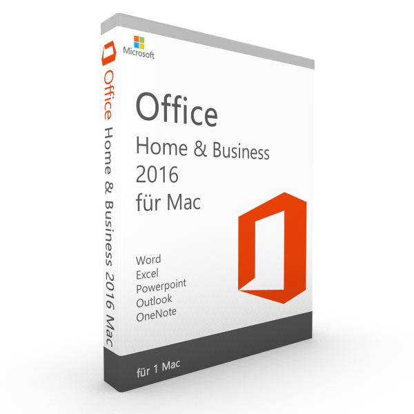 Office 2016 für MAC Home & Business Vollversion, kein Abo