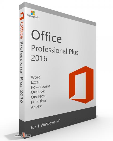 Microsoft Office 2016 Professional Plus - kein Abo