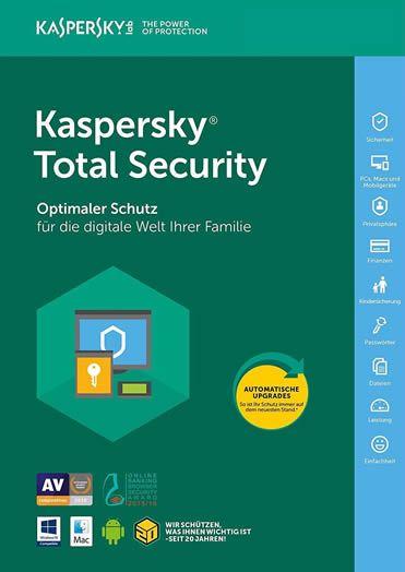 Kaspersky Total Security 2018 5 PC / Geräte / 1 Jahr
