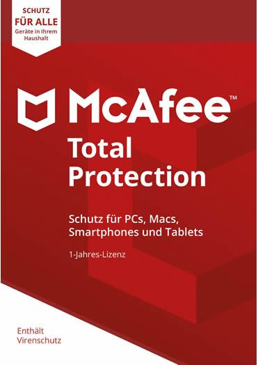 McAfee Total Protection 2018 Unlimited 10 PC/ Geräte 1Jahr