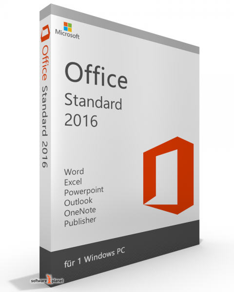 Microsoft Office 2016 Standard / Home & Business - kein Abo